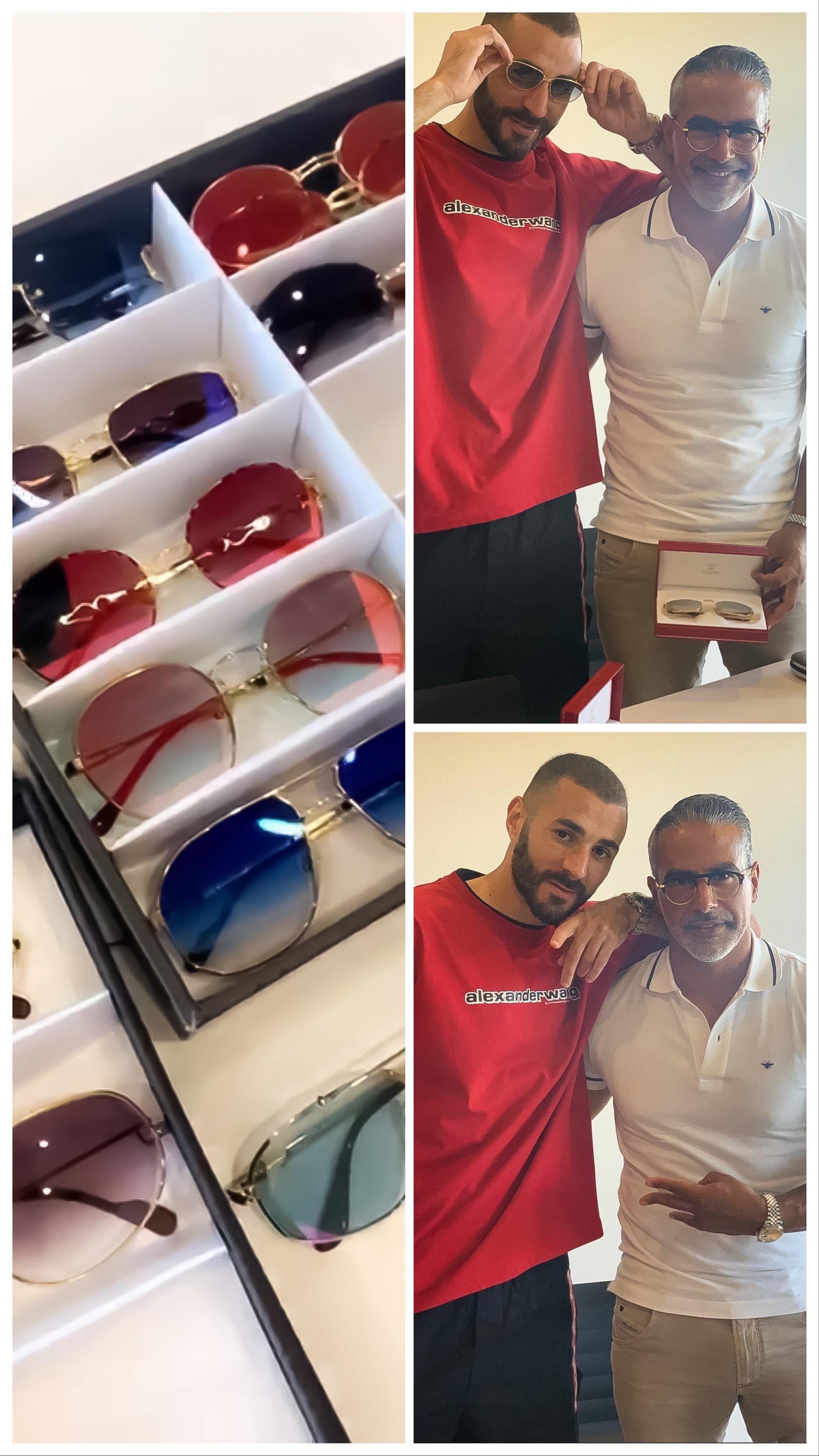 Karim Benzema en plein essayage avec Opticien d'Exception !