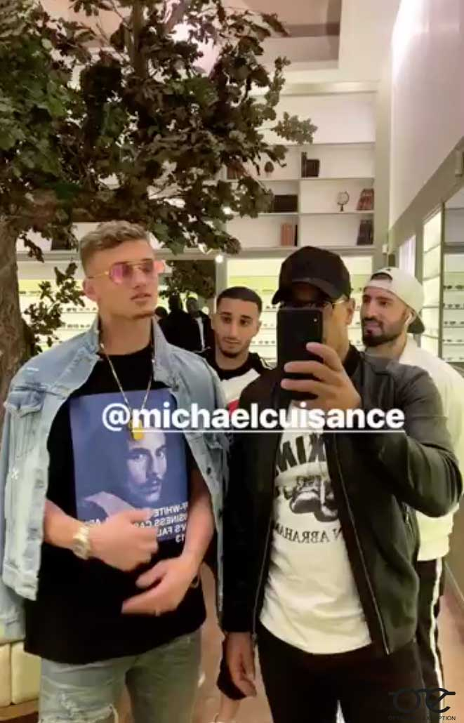 Michael Cuisance de passage au shop !